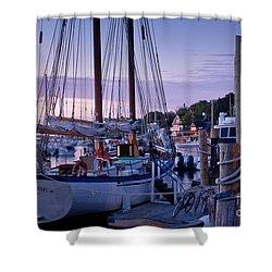 Camden Windjammer Dawn Shower Curtain by Susan Cole Kelly