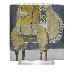 Camel Facing Right Shower Curtain