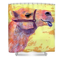 Camel Shower Curtain by Jane Tattersfield