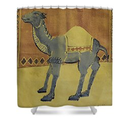 Camel With Diamonds Shower Curtain