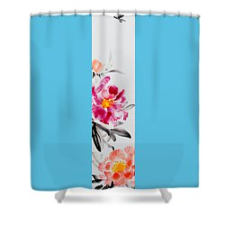 Camellia And Butterfly Shower Curtain