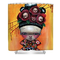 Camellia And Friends Shower Curtain