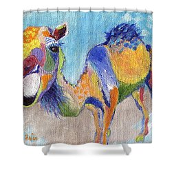 Shower Curtain featuring the painting Camelorful by Jamie Frier