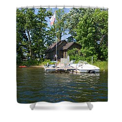 Camelot Island  Shower Curtain