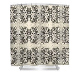 Cameo Mirror Image Shower Curtain