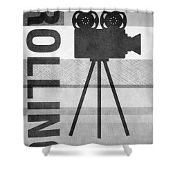Cameras Rolling- Art By Linda Woods Shower Curtain