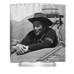 Cameron Mitchell The High Chaparral Set Old Tucson Arizona 1969 Shower Curtain by David Lee Guss