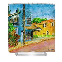 Shower Curtain featuring the painting Camilles Place by Eric Samuelson