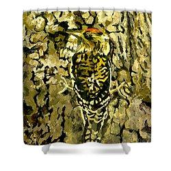 Camouflage Shower Curtain by Alice Leggett