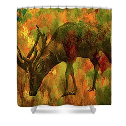 Camouflage Deer Shower Curtain