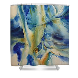 Camouflage Shower Curtain by Donna Acheson-Juillet