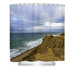 Camp Hero Bluffs Shower Curtain