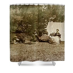 Camp Life Shower Curtain by Randall Cogle