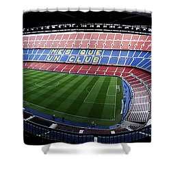 Camp Nou Shower Curtain by Agusti Pardo Rossello