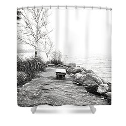 Camp Of The Woods, Ny Shower Curtain