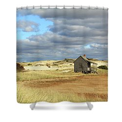 Camp On The Marsh And Dunes Shower Curtain by Roupen  Baker