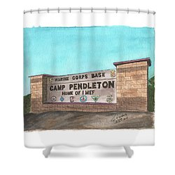 Camp Pendleton Welcome Shower Curtain