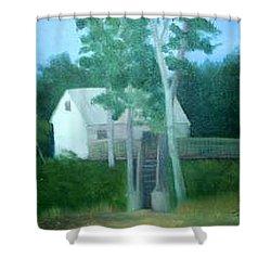 Camp Shower Curtain by Sheila Mashaw