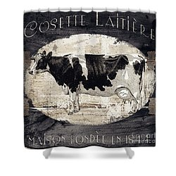 Campagne I French Cow Farm Shower Curtain