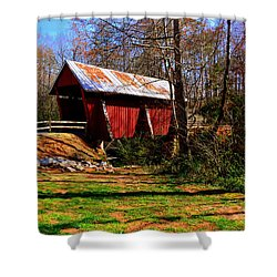 Campbell's Covered Bridge Est. 1909 Shower Curtain