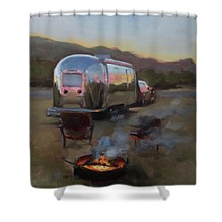 Campfire At Palo Duro Shower Curtain