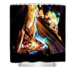 Campfire In July Shower Curtain
