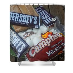 Campfire Smores - Outdoor Camping Shower Curtain