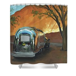Camping At The Red Rocks Shower Curtain