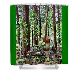 Camping Paradise Shower Curtain