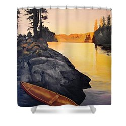 Camping Scene Shower Curtain