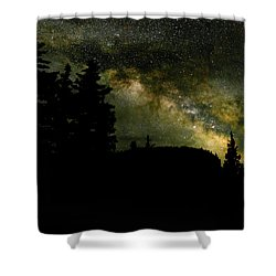 Camping Under The Milky Way 2 Shower Curtain