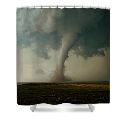 Shower Curtain featuring the photograph Campo Tornado by Ed Sweeney
