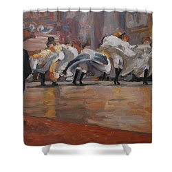 Can Can In The Moulin Rouge Paris Shower Curtain
