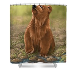 Shower Curtain featuring the painting Can I Dive? by Veronica Minozzi