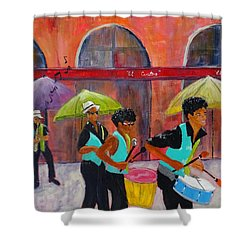 Can You Hear The Music? Shower Curtain