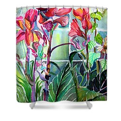 Cana Lily And Daisy Shower Curtain