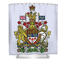 Canada Coat Of Arms Shower Curtain by Movie Poster Prints