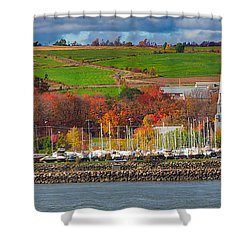 Canadian Colors Shower Curtain