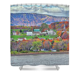 Canadian Fall Foliage Shower Curtain