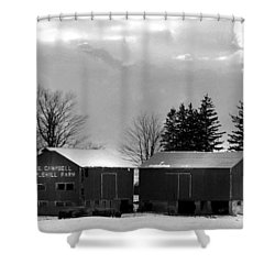 Canadian Farm Shower Curtain by Anthony Jones