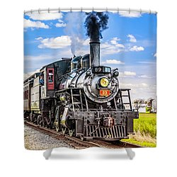 Shower Curtain featuring the photograph Canadian National 89 by Nick Zelinsky
