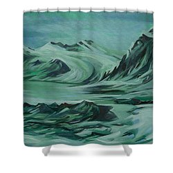 Shower Curtain featuring the painting Canadian North by Anna  Duyunova