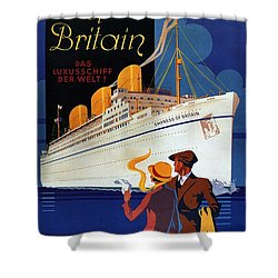 Canadian Pacific - Hamburg-berlin - Empress Of Britain - Retro Travel Poster - Vintage Poster Shower Curtain