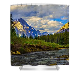 Canadian Rocky Mountains Shower Curtain by John Roberts