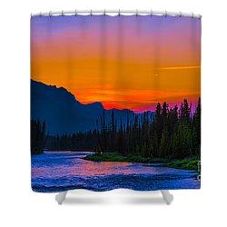Canadian Rocky Sunset Shower Curtain