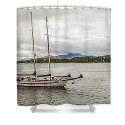 Canadian Sailing Schooner Shower Curtain