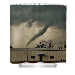 Shower Curtain featuring the photograph Canadian Tx Tornado by Ed Sweeney
