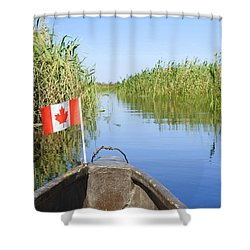 Canadians In Africa Shower Curtain