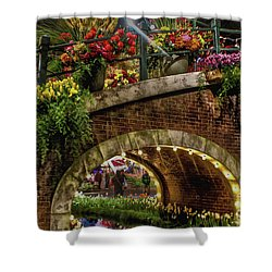 Canal And Bridge  Shower Curtain