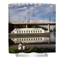 Canal Boat  Shower Curtain